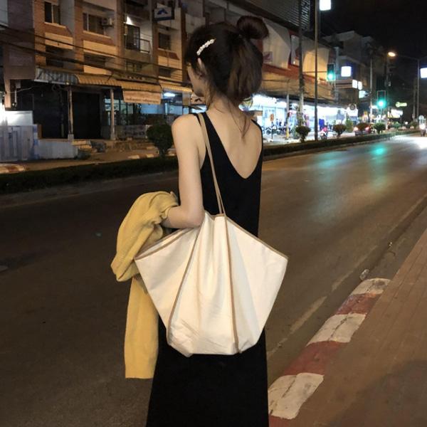 (수입) 베이직 라인 데일리 빅 숄더백-8283
