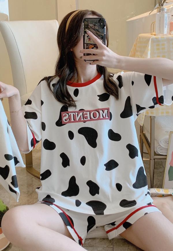 (수입) 젖소 프린팅 파자마 세트-7137