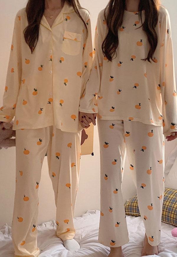 (수입) 탠저린 패턴 2종 파자마-5997