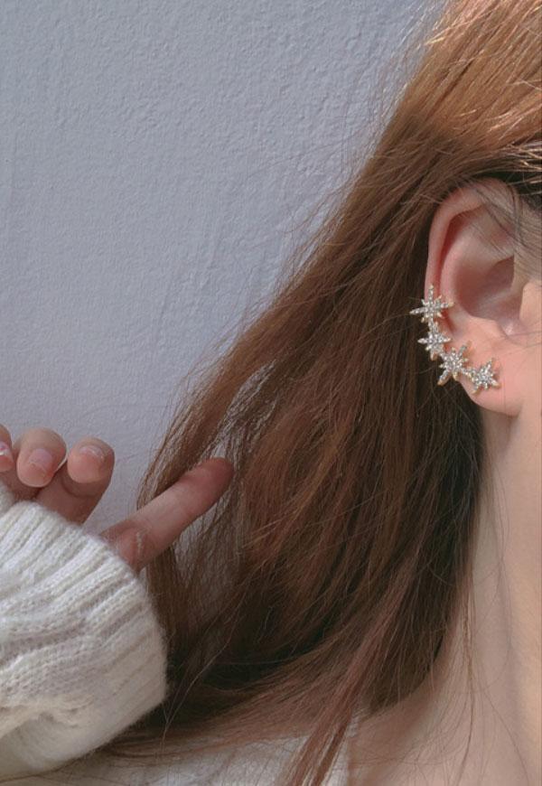 (수입) 식스 스타 클립 귀걸이-782