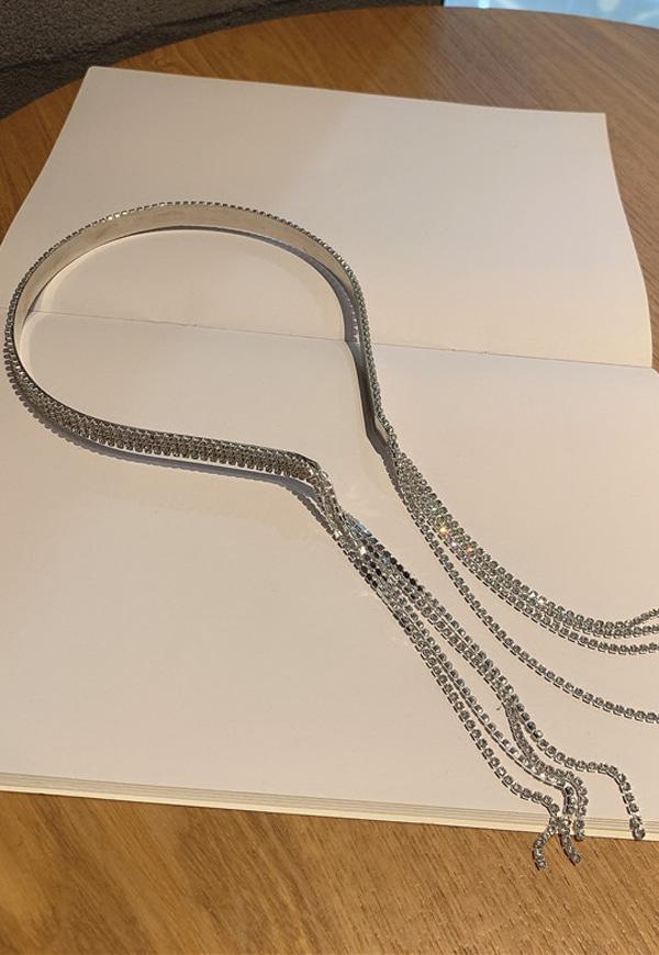 (수입) 4줄 잔큐빅 블링블링 머리띠-F135