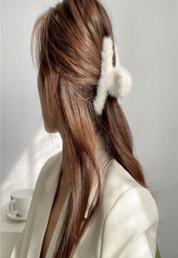 (수입) 따듯한 데일리 털 헤어핀-L045