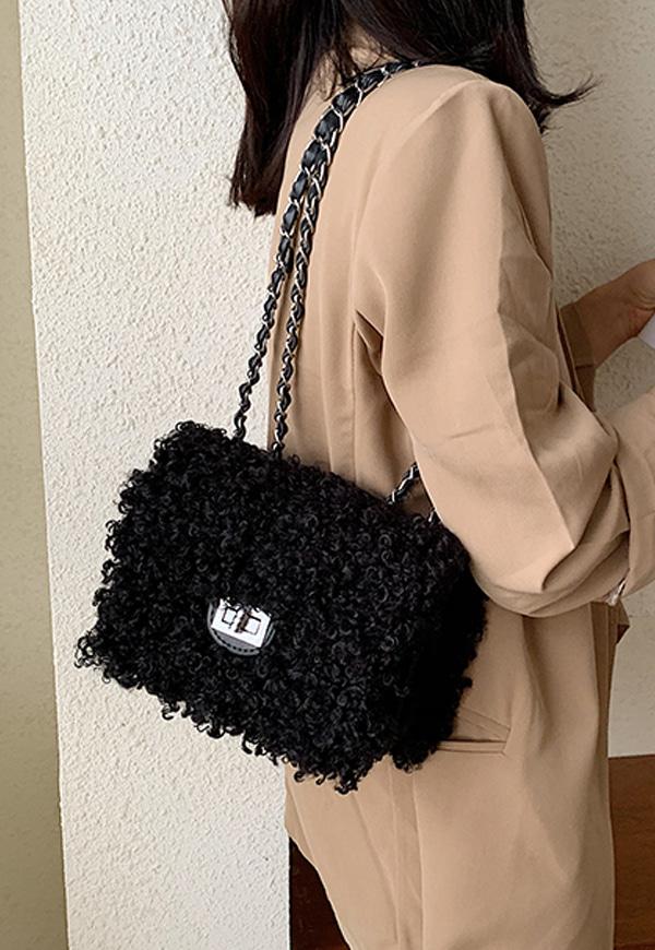 (수입) 귀여운 양털 뽀글 미니 크로스백-8269