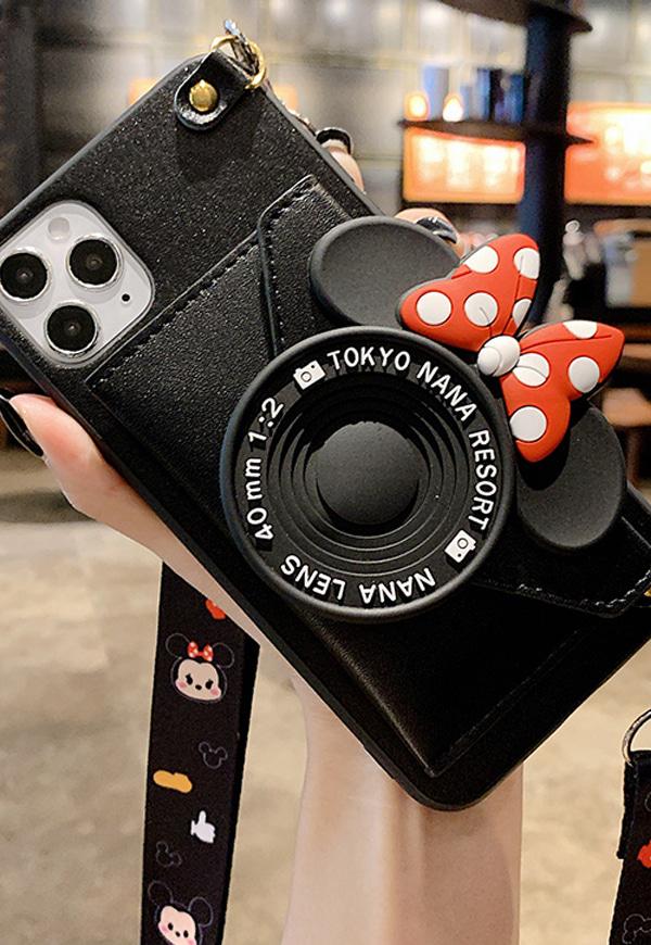 (수입) 카메라 모양 리본 미키케이스#